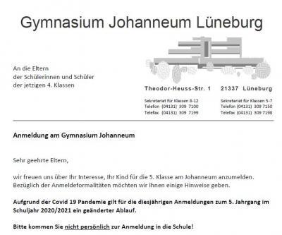 Vorschaubild zur Meldung: Aktualisiert: Informationen zur Anmeldung am Johanneum
