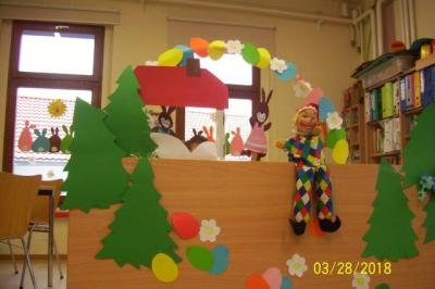 Foto zur Meldung: Puppentheater zu Ostern in Haus I