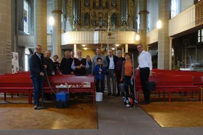 Das Kirchenputz-Team 2017. Foto: C. Steigertahl