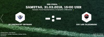 Foto zur Meldung: Pokalhalbfinale Fußballkreis Südbrandenburg