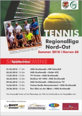 Vorschaubild zur Meldung: Spieltermine Herren 60 Regionalliga Nordost Sommer 2018