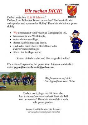"""Foto zu Meldung: Feuerwehr Uelitz sucht """"DICH""""!"""