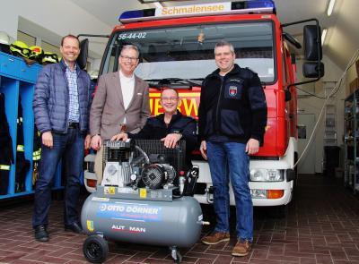 Foto zur Meldung: Schnelleres Ausrücken der Feuerwehr dank Firma Otto Dörner