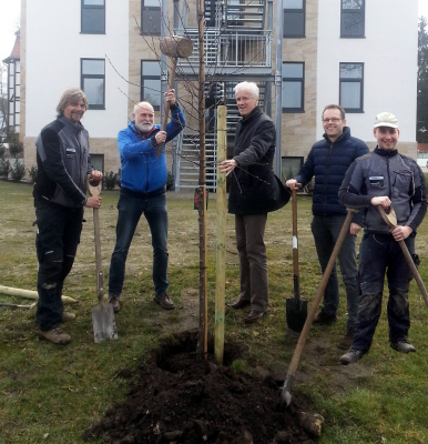 Foto zur Meldung: Baumpflanzaktion TuS Lemförde