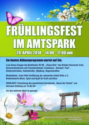 Foto zu Meldung: Frühlingsfest Brück am 28. April 2018, in diesem Jahr im Amtspark Brück!