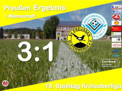 Vorschaubild zur Meldung: +++ Ergebnis 19. Spieltag Kreisoberliga +++