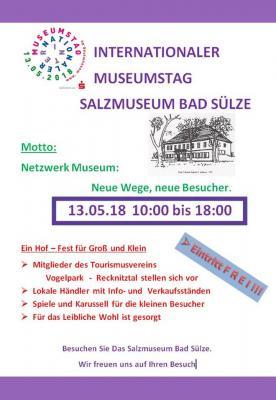 Vorschaubild zur Meldung: Internationaler Museumstag am 13.05. wird als Hof-Fest im Salzmuseum gefeiert
