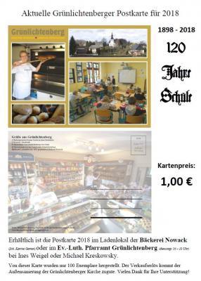 Vorschaubild zur Meldung: Neue Grünlichtenberger Postkarte