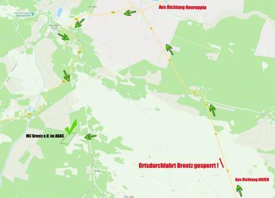 Vorschaubild zur Meldung: ACHTUNG: Umleitung nach Dreetz, Ortsdurchfahrt gesperrt!