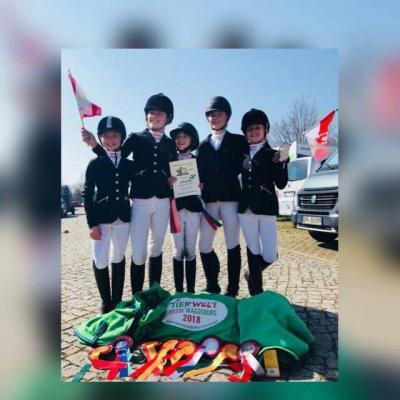 Foto zur Meldung: Lara Winter und Emily Grubitz starteten bei den offenen Landesmeisterschaften Vierkampf Sachsen-Anhalt in Magdeburg
