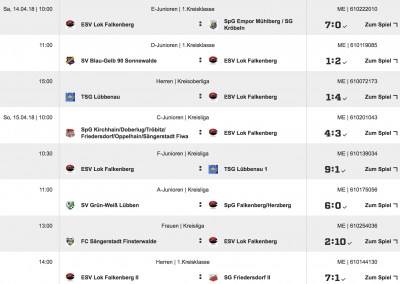 Foto zur Meldung: ESV Fußball Ergebnisse