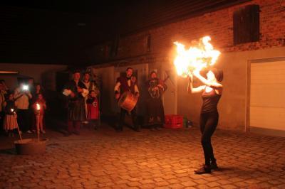 Foto zur Meldung: Gelungenes Ritteressen in Grebs - 1025 Jahre Grebs