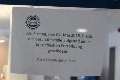 Foto zu Meldung: Geschäftsstelle am 4. Mai geschlossen