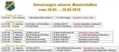 Foto zur Meldung: Fußball: Die Ansetzungen der kommenden Tage/Heimspiel der D Junioren fällt aus