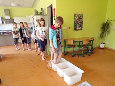 Foto zur Meldung: Gesundheitswoche 2018 - Kneipp-Projekt der Ecolea-Schüler aus Schwerin in der Klassenstufe 3