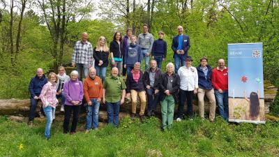 Workshopteilnehmer mit Landrat Jörg Farr (vl)