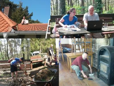 Foto zur Meldung: Viel Arbeit an der Ringelsberghütte