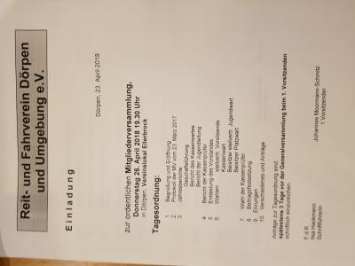 Vorschaubild zur Meldung: Ordentliche Mitgliederversammlung