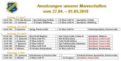 """Foto zur Meldung: Fußball: Volles Programm am """"verlängerten"""" Wochenende"""