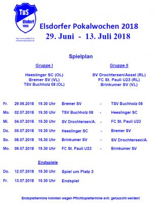 Vorschaubild zur Meldung: Spielplan der Elsdorfer Pokalwochen 2018