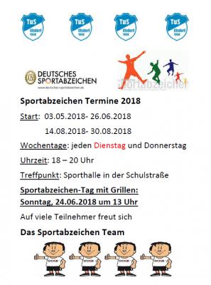 Vorschaubild zur Meldung: Sportabzeichen 2018