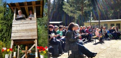 Foto zur Meldung: Freiluftgottesdienst zu Himmelfahrt in der Försterei Niemegk