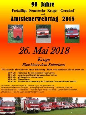 Foto zu Meldung: Amtsfeuerwehrtag und 90 Jahre FF Kruge - Gersdorf