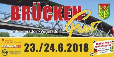 Vorschaubild zur Meldung: 4. Brückenfest am S-Bahnhof Fredersdorf