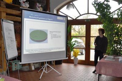 Ergebnispräsentation während des Workshops © LAG Storchenland Prignitz