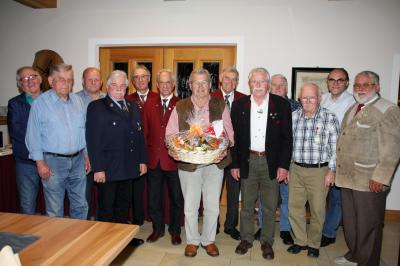Xaver Wintersberger durfte viele Glückwünsche von offizieller Seite entgegen nehmen.