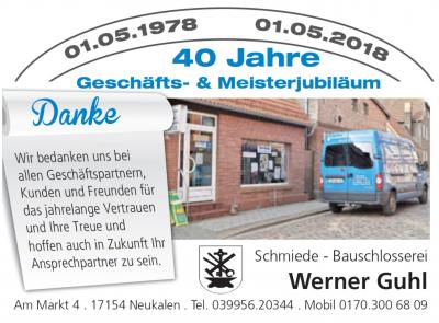 Foto zur Meldung: 40. Geschäfts- & Meisterjubiläum