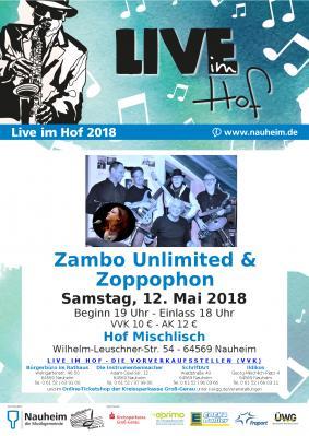 Vorschaubild zur Meldung: Live im Hof: Zoppophon und Zambo Unlimited am 12.05.2018