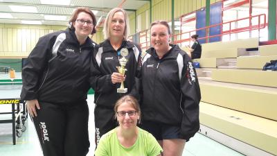 Vize-Kreispokalsiegerinnen: Kirsten Geske, Heike Kunze, Heike Zellmann (h.v.l.) und Imke Meyer (vorne)