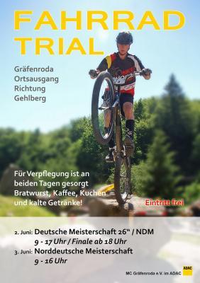 """Foto zur Meldung: """"Trial-Sport-Highlight in Gräfenroda – Deutsche Meisterschaft 26 Zoll"""""""