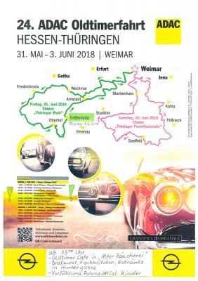 Foto zur Meldung: Einladung zur 24. ADAC-Oldtimerfahrt Hessen-Thüringen