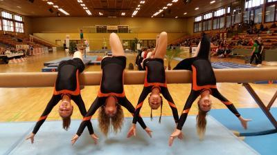 Foto zur Meldung: Turnerinnen erkämpfen 8. Platz im Bundesfinale