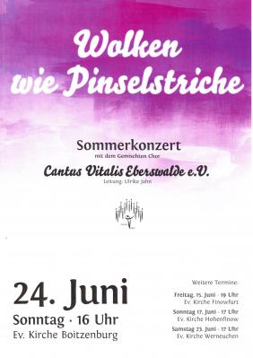 Vorschaubild zur Meldung: Chorkonzert Kirche Boitzenburg 24. Juni