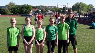 Foto zur Meldung: Wallersdorfer Leichtathleten bei niederbayerischer Blockmeisterschaft