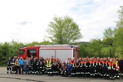 Foto zur Meldung: Traditionelle Gemeinschaftsübung der vier Feuerwehren der Gemeinde am 1. Mai 2018