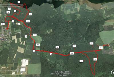 Vorschaubild zur Meldung: Streckenverlauf 21 km