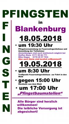 Vorschaubild zur Meldung: Pfingsten 2018 in Blankenburg