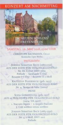 Flyer zum Konzert