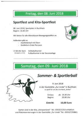 Vorschaubild zur Meldung: Einladung zum Sportfest am 08.06.2018 in Buchhain