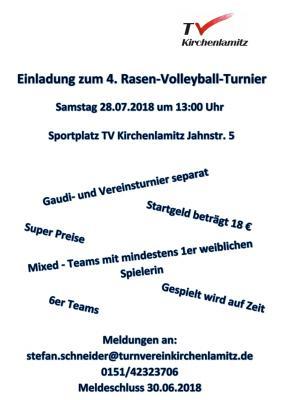 Foto zur Meldung: Einladung zum 4. Rasen-Volleyball-Turnier