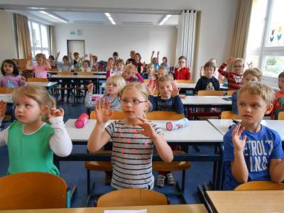 Foto zur Meldung: Schnupperschulstunde in der Elbtalgrundschule