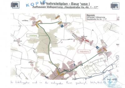 Vorschaubild zur Meldung: Ortsdurchfahrt von Aufhausen auf Teilstrecken gesperrt