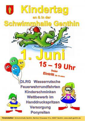 Vorschaubild zur Meldung: Kindertag an & in der Schwimmhalle Genthin am 1. Juni