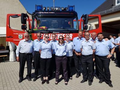 Foto zur Meldung: Fahrzeugweihe Partnerwehr Rauschwitz