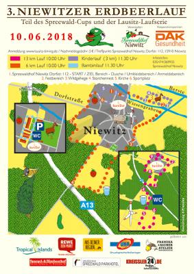 Vorschaubild zur Meldung: Online-Anmeldung für den 3. Niewitzer Erdbeerlauf noch bis 7. Juni 2018
