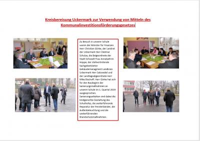 Vorschaubild zur Meldung: Kreisbereisung Uckermark zur Verwendung von Mitteln des Kommunalinvestitionsförderungsgesetzes